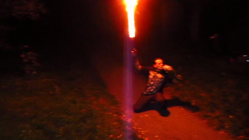 Пламенное шоу от Миши