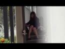 Series of Japanese schoolgirl wetting in public