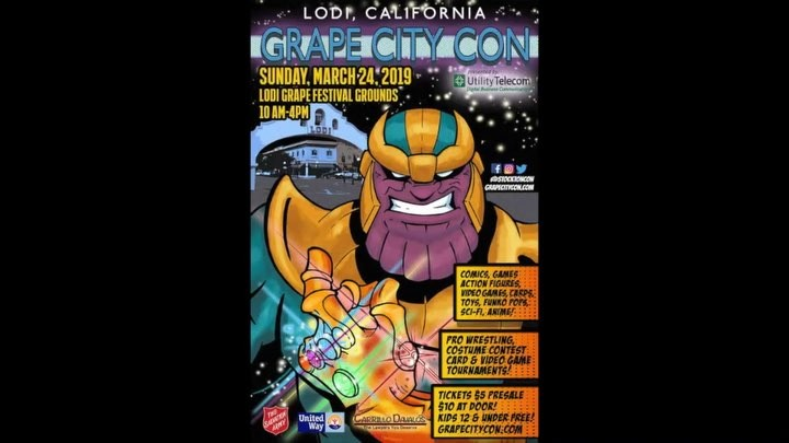 March 24th I will be signing autographs and doing photo ops at Grape City Con, Lodi, California! Looking forward to mee...