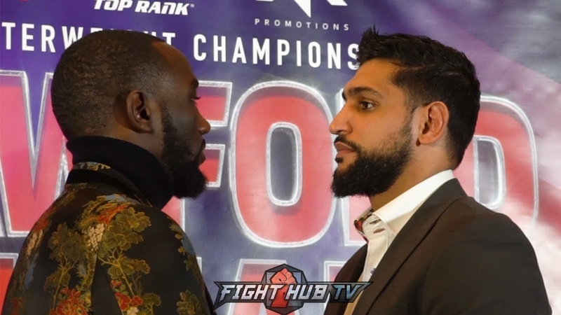 TERENCE CRAWFORD AND AMIR KHAN GO HEAD TO HEAD FOR FIRST TIME IN LONDON!