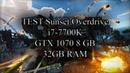 Test i7 7700K GTX 1070 Sunset Overdrive