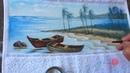 Barcos e Praia em Tecido (Aula 88)