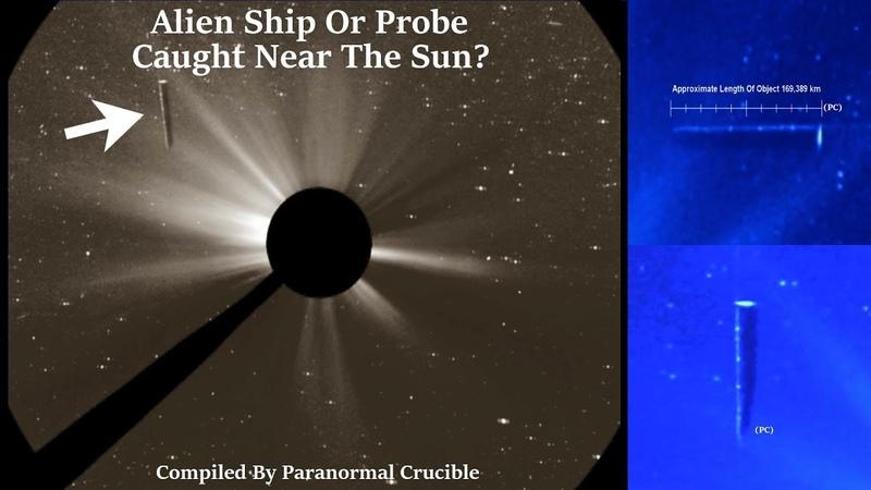Alien Ship Or Probe Caught Near The Sun