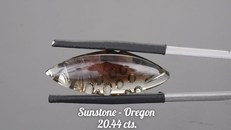 Custom Oregon Sunstone Freeform Fantasy Carving from KGC