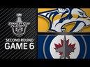 Nashville Predators vs Winnipeg Jets – May. 07, 2018 | Game 6 | Stanley Cup 2018. Обзор
