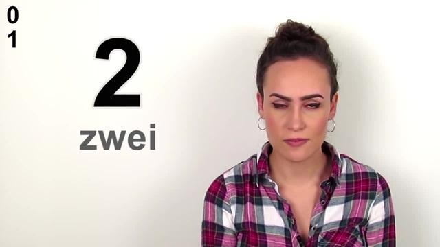 Zählen Sie bis zehn auf Deutsch (numbering 1-10 in german)