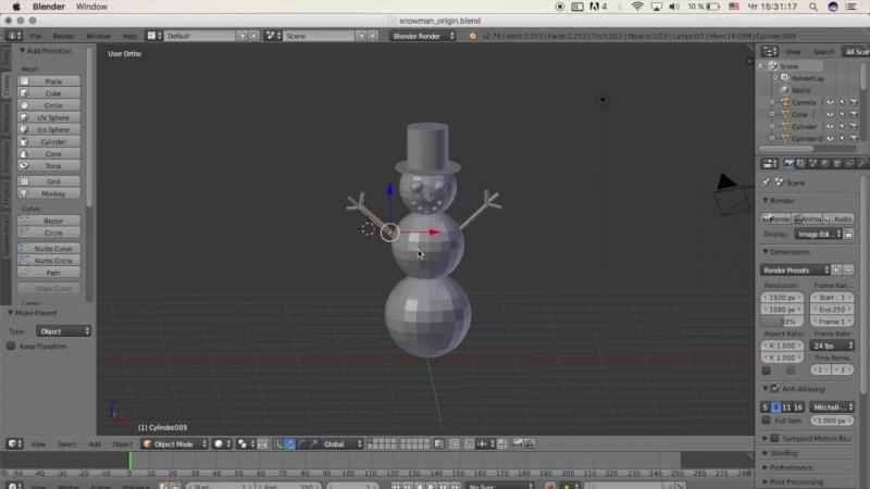 Гоша Дударь Blender 3D моделирование Урок 13 Связь объектов