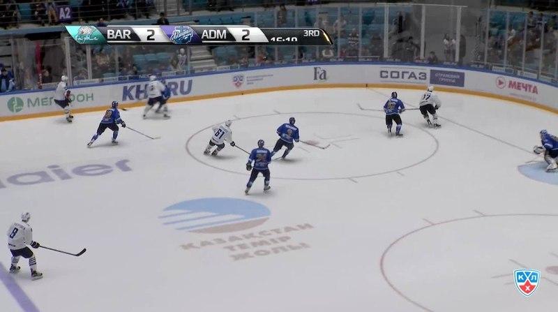 Моменты из матчей КХЛ сезона 14/15 • Гол. (2:3). Горшков Александр (Адмирал) забросил шайбу и вывел свою команду вперед. 14.11