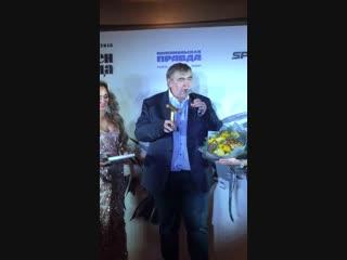 Юрий Розанов получил золотой микрофон на премии «Джентльмен года!»
