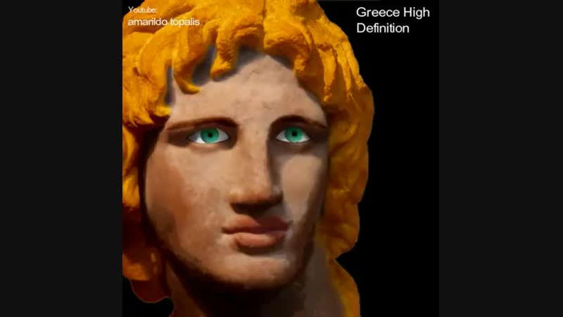 Greek Statues Were Once Covered in Colorful Paint. Photoshoped by Amarildo Topalis.