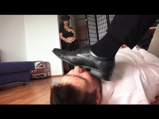 Cuckold dominated by Bull while Girlfriend watch.