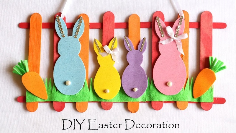 DIY Easter Decorations Easy Spring Room Decor Ideas Door Wall Hanging Easter Bunny