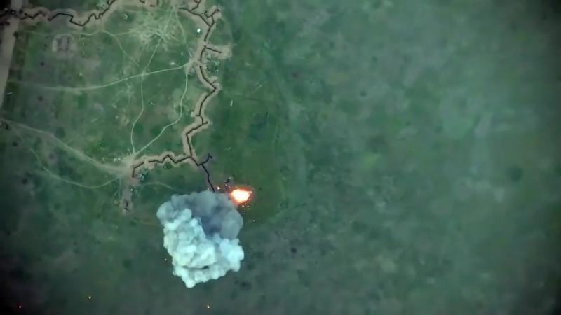 Знищення Української Армією БМП терористів Опорник між докучаючи і Миколаївській 19 05 2018
