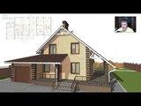Типовой проект удобного мансардного дома с гаражом B-274-ТП