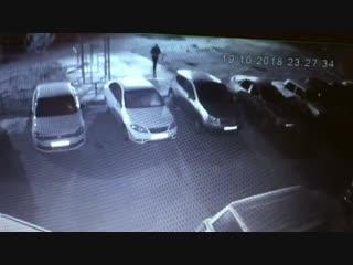 19.10.18 в 23:30 ул. Волгоградской 44 акт вандализма
