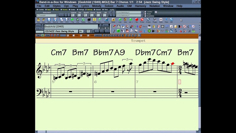 Miles Davis for Band in a Box Jazz Transcriptions