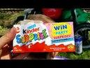 Распаковка детских товаров.КИНДЕРЫ.Парк в КАНАДЕ/Kinder Surprise/ обзор игрушек