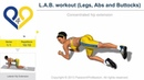 L.A.B. workout (Legs, Abs and Buttocks) - No Music
