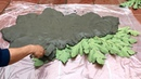 How To Make A Beautiful Cement Table With Papaya leaves At Home- Art Craft- Home Garden Design