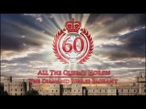 Отрывки из конного шоу, посвященного нескольким юбилеям королевы Великобритании.