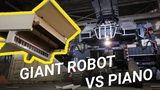 Giant Robot Crushes a Piano