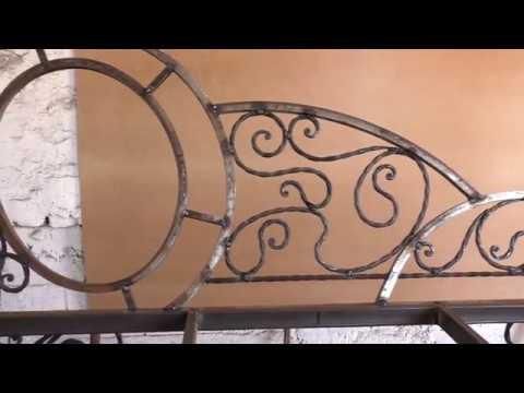 Скамейка с покатой спинкой металлокаркас