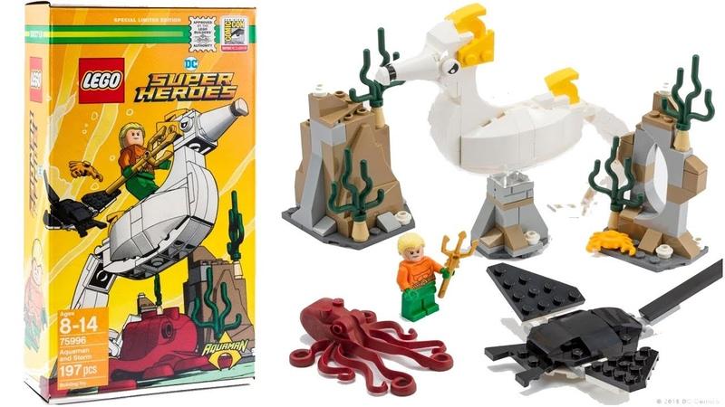 LEGO DC Comics 75996 Aquaman and Storm Comic-Con 2018 Set