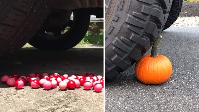 CRUSHING CRUNCHY and SOFT THING By a Car ! (Very Relaxing and Satisfying ASMR)