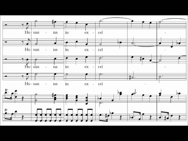 Sanctus - (Coronation Mass) Missa Brevis in C Major - KV 317 - Mozart