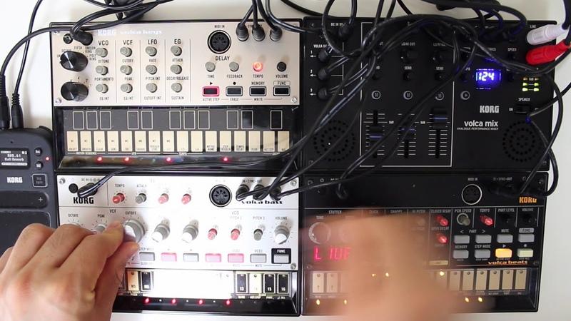 Korg volca mix, beats,bass,keys,volca acid again