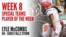 Week 8 Special Teams Player of the Week - Lyle McCombs