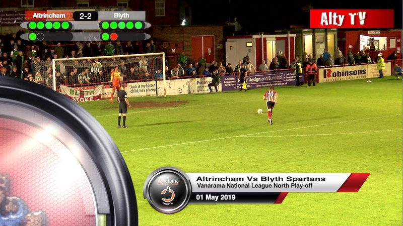 Altrincham Vs Blyth Spartans 01052019. Vanarama National League North Play-Off Eliminator