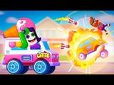БИТВА МАШИН новая игра для маленьких детей #4 игровой мультфильм 2019 Racemasters Clash of Cars