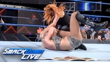 Becky Lynch ambushes Charlotte Flair following main event title match SmackDown LIVE, Aug. 28, 2018