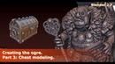 Creating the Ogre Part 3 Chest modeling Modeling in Blender