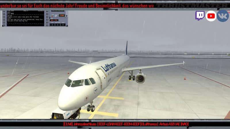 LIVE Jahresabschluss EDDF LOWW EDDT EDDM EDDF Lufthansa Airbus A321 IAE IVAO