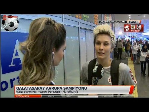 Galatasaray Kadın Basketbol Takımı 3. kez Avrupa şampiyonu! Tafartarlar'dan hava alanında karşılama
