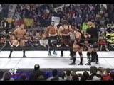 Rock, Kane and Hulk Hogan vs NWO