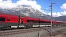 Rail Jet Train Austrian Alps