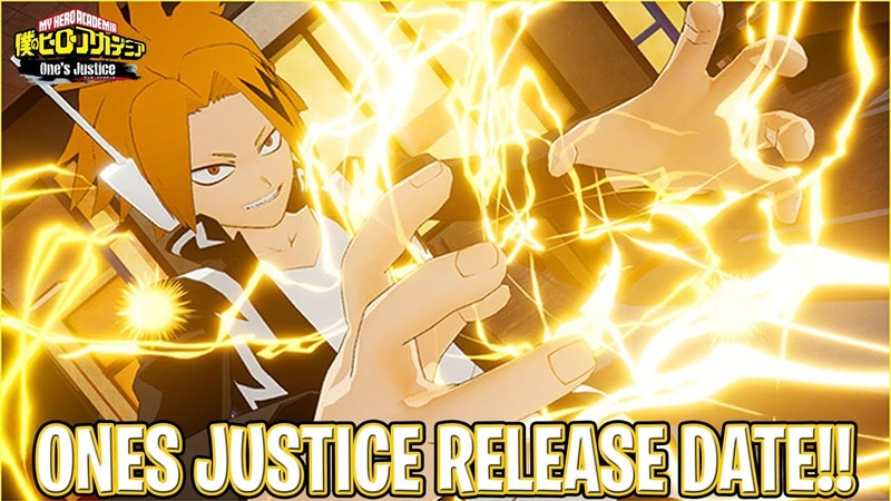 MY HERO ACADEMIA ONE'S JUSTICE RELEASE DATE IN JAPAN! MORE NEWS/NEW CHARACTERS