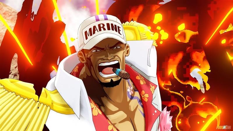 One Piece World Seeker Aokiji Akainu Crocodile NEW Gameplay Screenshots 4k