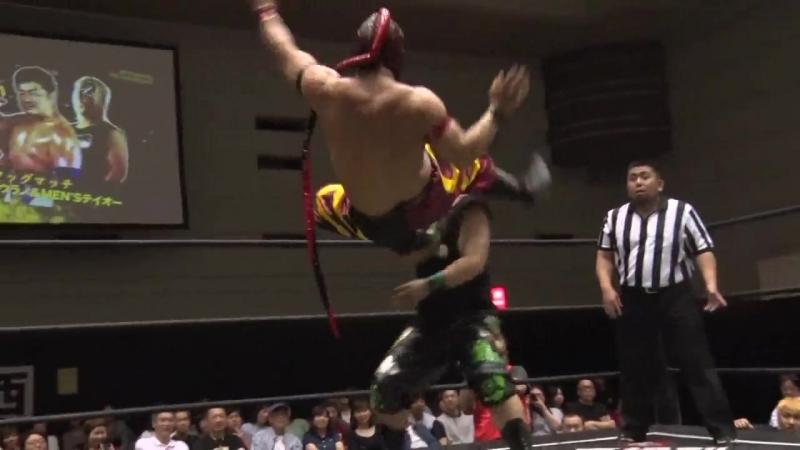 HUB, Masahiro Takanashi vs. MENs Teioh, Yasu Urano (DDT - Dramatic Dreams! Vol.5 ~ May I Know The Rain ~)
