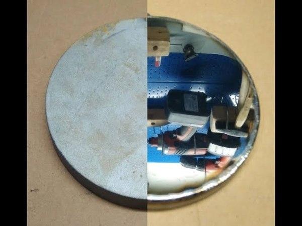 Зеркало из нержавейки. Полировка.