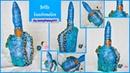 Fairy house on bottle|Bottle decorating ideas|Bottle Craft|Bottle art|mountain craft|fountain craft