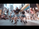 180816 (G)I-DLE  FLASHMOB in New York :FAKE LOVE - BTS @ SNS