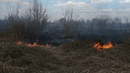 В Тульской области в опасной близости от домов горят травяные поля