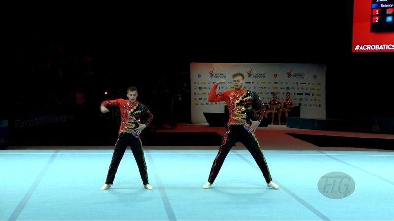 Russian Federation (RUS) - 2018 Acrobatic Worlds, Antwerpen (BEL) - Combined Men's Pair