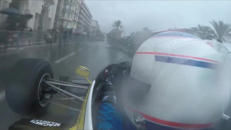 Alain Prost and Nico Hulkenberg wowed the crowds in Nice this weekend.
