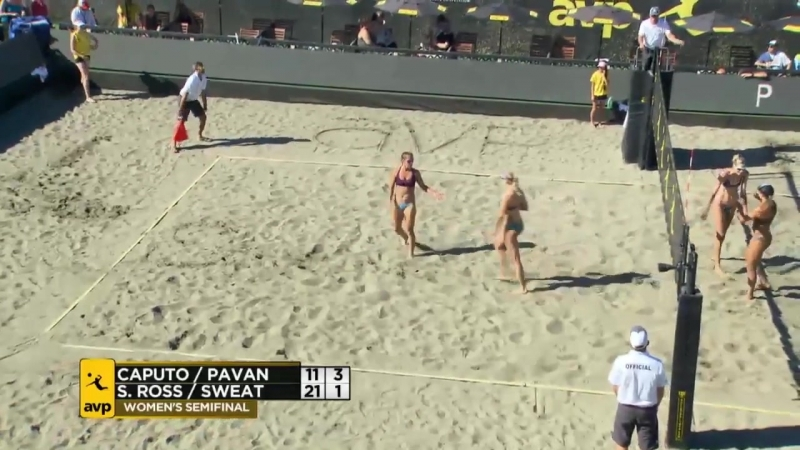 AVP Seattle Open 2017 Womens Semi-Final- Caputo-Pavan vs Ross-Sweat