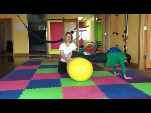 Movement Therapy using a Peanut Ball for improving the Prone and Supine Positions